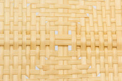 Close up  brown  Bamboo weave Royalty Free Stock Photo