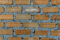 Close up the brown brick wall near term Stock Image