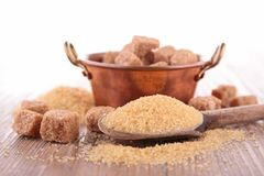 Brown cane sugar. Close up on brown cane sugar Stock Images