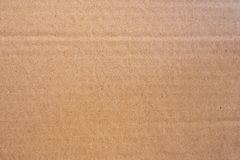 Close up brown cardboard paper box texture and background. royalty free stock image