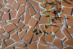 Close up of brown  ceramic tile as a background pattern Royalty Free Stock Photography