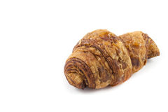 Close up  brown croissant. On white background Royalty Free Stock Photography