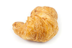 Close up  brown croissant. On white background Royalty Free Stock Photo