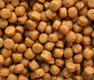 Close up of brown dog food Royalty Free Stock Image
