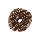 Close up brown donut. Close up donut on white background Stock Image