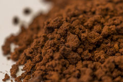 Close- up brown granulate of instant coffee Royalty Free Stock Images