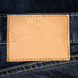 Close up brown leather jeans empty. Stock Images