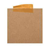 Close up of a brown note paper Royalty Free Stock Photography