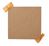 Close up of a brown note paper Royalty Free Stock Photo