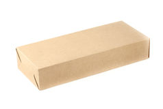 Close up brown paper box Royalty Free Stock Photography