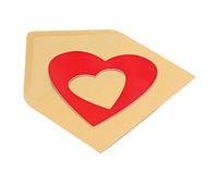 Close-up of brown paper envelope Royalty Free Stock Photos