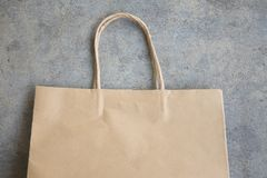 Close up brown paper shopping bag Royalty Free Stock Photos