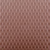 Close up brown plastic weave furniture. Texture background and pattern abstract Stock Photo