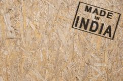 Made in INDIA corner Stock Photos