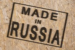 Made in RUSSIA Royalty Free Stock Photo