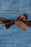 Close up of brown ribbon Stock Photography