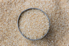 Close up, brown rice Royalty Free Stock Image