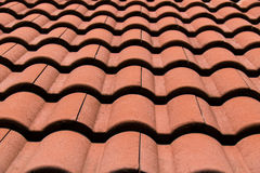 Close up Brown Roof Tile at home for textures and background Stock Image