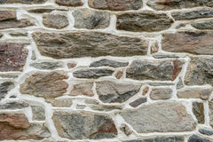 Close Up of Brown Stone Wall with Plaster Stock Image