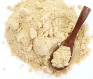 Close up of brown sugar on white background Stock Photos