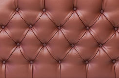 Close up brown vintage sofa leather texture. Stock Photo