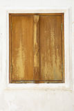 Close up of brown vintage window Stock Image