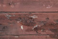 Close up of brown wood wall texture. Royalty Free Stock Images