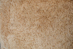 Close-up brown wool fluffy fur texture Royalty Free Stock Images