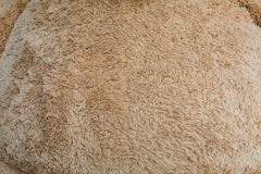 Close-up brown wool fluffy fur texture Royalty Free Stock Photography
