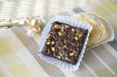 Close up brownie Royalty Free Stock Images