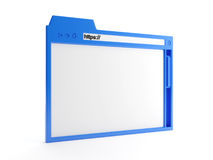 Close-up browser window. 3d illustration: a close-up browser window Stock Photography