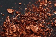 Close-up bruine afgebrokkelde Stukken van Poeder stock fotografie