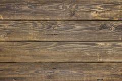 Close-up bruine uitstekende natuurlijke houten planken De donkere oude lege textuur van het rustikpatroon Voor natuurlijk ontwerp Royalty-vrije Stock Foto's