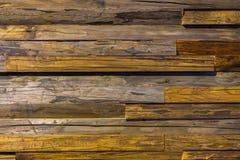 Close-up bruine uitstekende natuurlijke houten unpainted planken De donkere oude lege textuur van het rustikpatroon Voor natuurli Stock Afbeelding