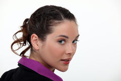 Brunette businesswoman Stock Photo
