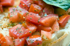 Close up bruschetta italian Royalty Free Stock Photography