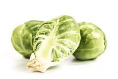Close Up of Brussel Sprouts Stock Photo