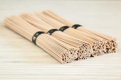 Close-up buckwheat soba noodles Stock Image