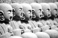 Close up buddha sculptures at Hase Kannon Temple Kamakura, Kanag Royalty Free Stock Image