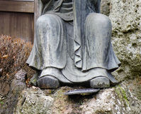 Close-up of Buddha statue at Japanese garden Royalty Free Stock Photos
