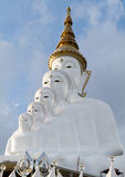 Close up, Buddha statues White 5 lined practice. Stock Images