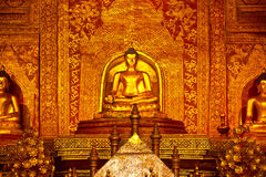 Close Up Buddha of the temple Royalty Free Stock Photography