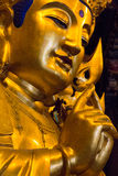 Close-up of Buddha at the temple of Jade Royalty Free Stock Images