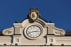 Close up of building with a clock Stock Photography