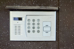 Close-up of building intercom Royalty Free Stock Photography