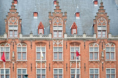 Close up of Building at Market square, Bruges Royalty Free Stock Images