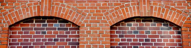 Red Brick work. Close up of Building with red Brick work Royalty Free Stock Photography