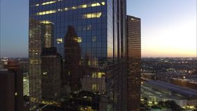 CLOSE UP OF BUILDINGS IN DOWNTOWN HOUSTON TEXAS stock video footage