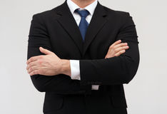 Close up of buisnessman in suit and tie Stock Images