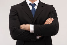 Close up of buisnessman in suit and tie Royalty Free Stock Images